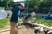 Photo of team member using miter saw from Bosch