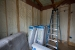 Photo of spray foam insulation during construction