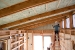 Photo of spray foam insulation installed in the house
