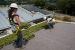 Photo of students installing green roof