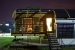 Photo of Maryland's Solar Decathlon 2005 house at night