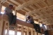Photo of students working on framing at clerestory