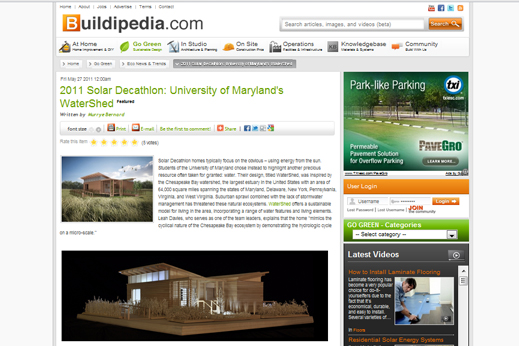 Screenshot of Buildipedia website