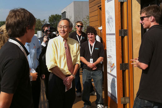 Secretary of Energy Steven Chu visits WaterShed