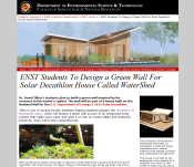 Screenshot of UMD ENST WaterShed News