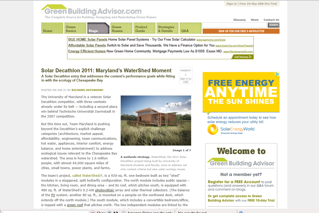 Screenshot of GreenBuildingAdvisor article