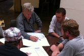 Photo of Charlie Berliner mentoring WaterShed team members