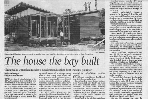 Scan of Baltimore Sun article on WaterShed