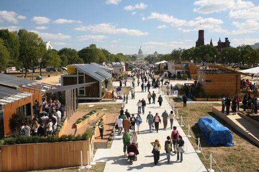 Photo of Solar Decathlon 2007 in progress