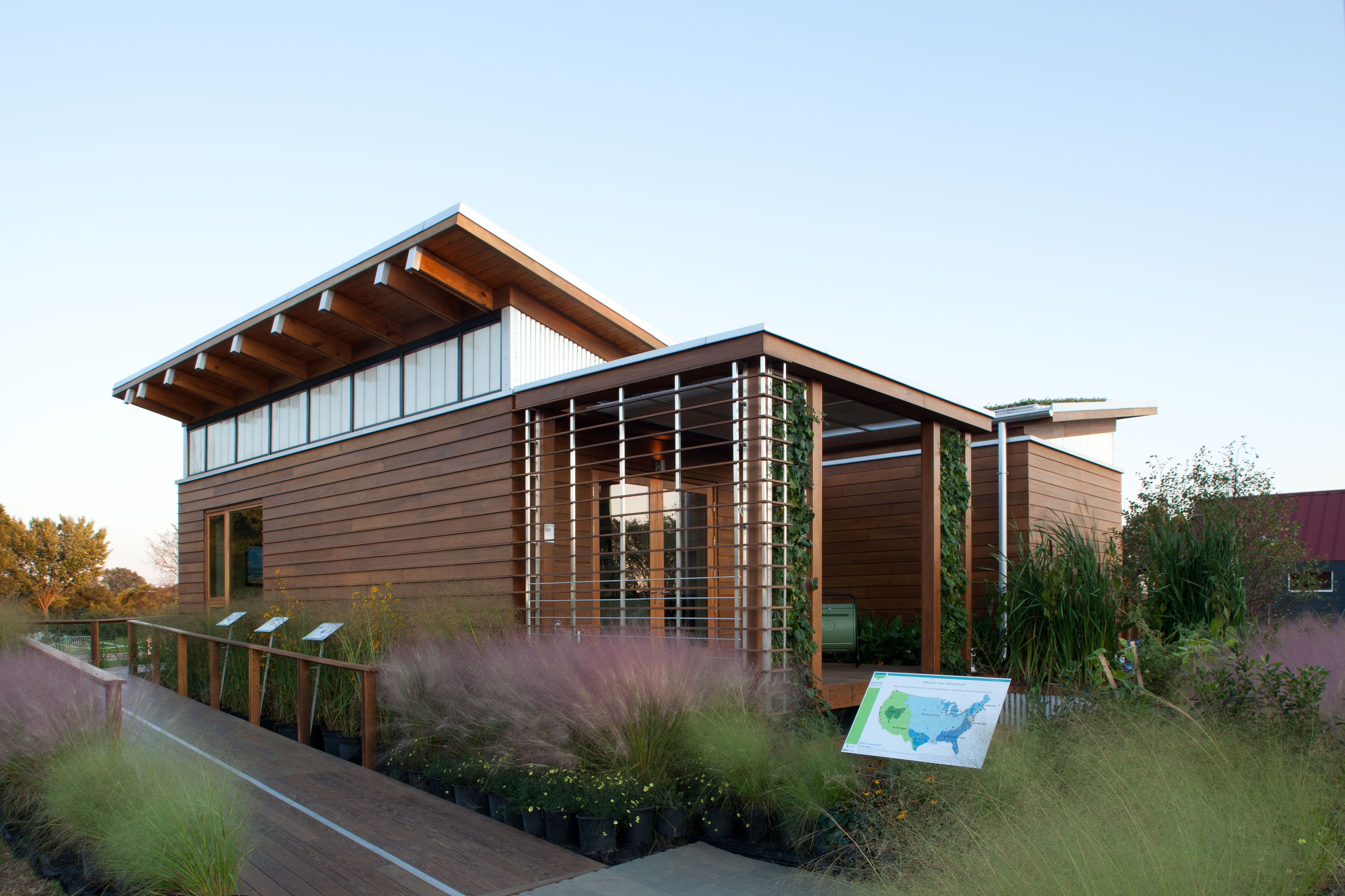 Exterior architectural photograph of Maryland's entry in the U.S. Department of Energy Solar Decathlon 2011, Washington D.C., Sept. 30, 2011.